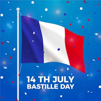 Realistic bastille day theme