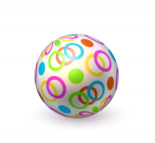 Realistic beach inflatable dotted ball