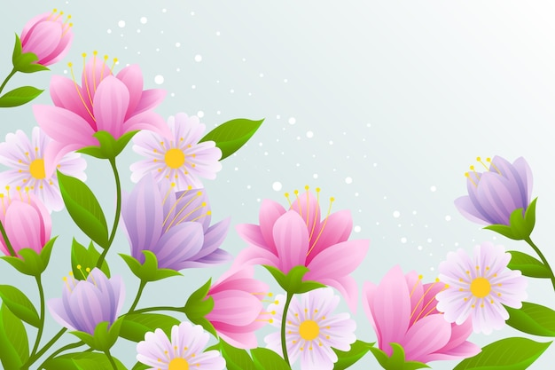 Realistic beautiful spring background