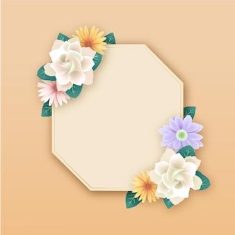 현실적인 아름다운 봄 꽃 프레임