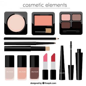 Realistic beauty cosmetics