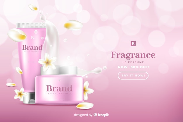 リアルな美容販売広告テンプレート