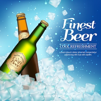 Реалистичная реклама пива