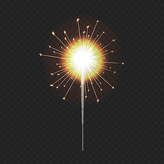 リアルなベンガルライト、お祝いのクリスマス線香花火、装飾照明要素。