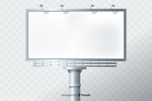 Realistic billboard template