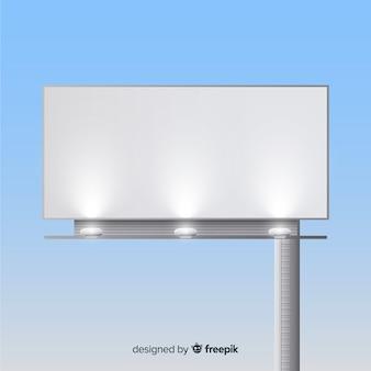 현실적인 광고 판 템플릿