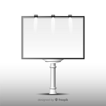 Реалистичный шаблон рекламного щита