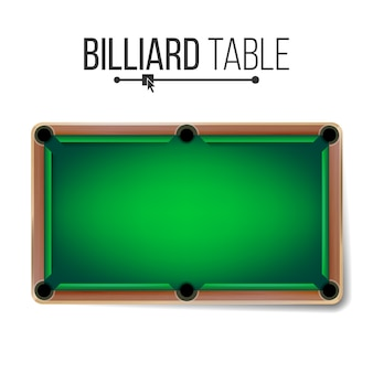 Realistic billiard table