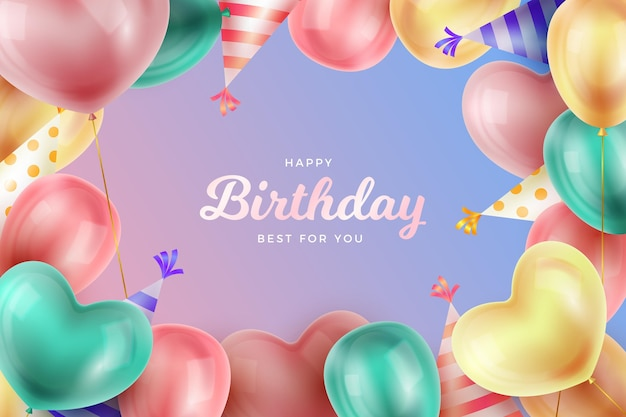 Realistic birthday background design