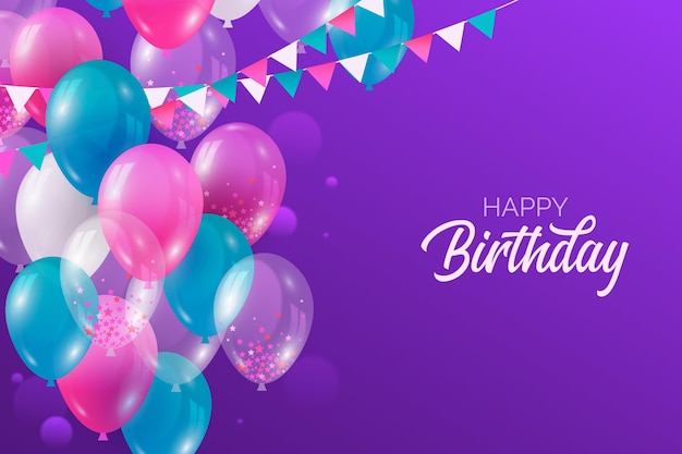 Realistic birthday background