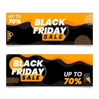 Set di banner orizzontali realistici del black friday