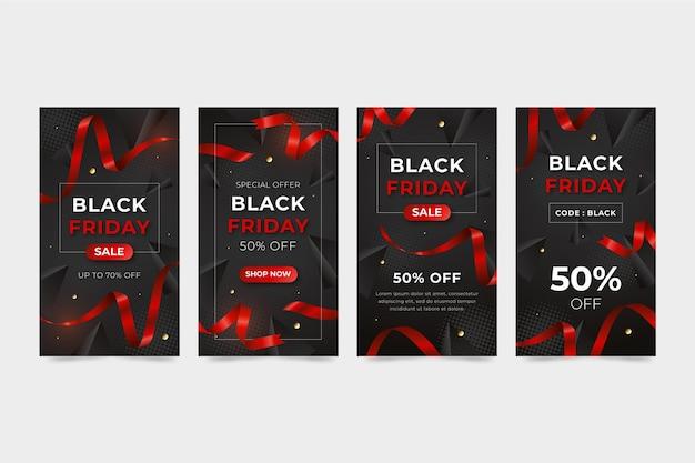 현실적인 블랙 프라이데이 인스타그램 스토리 컬렉션