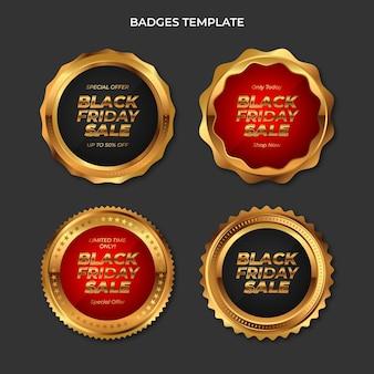 Collezione di etichette realistiche del black friday