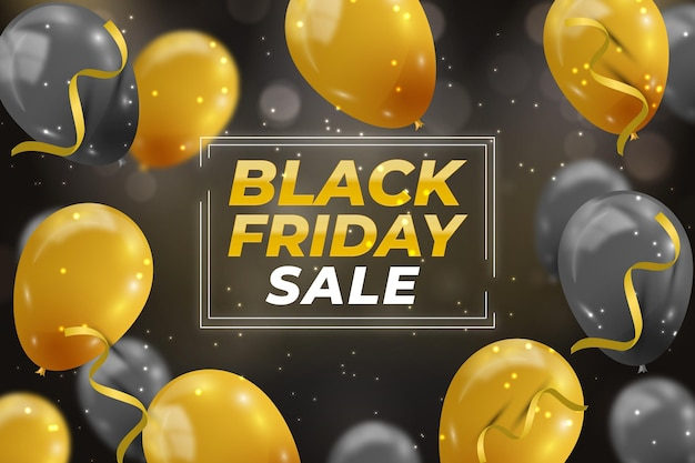 Realistic black friday sale background