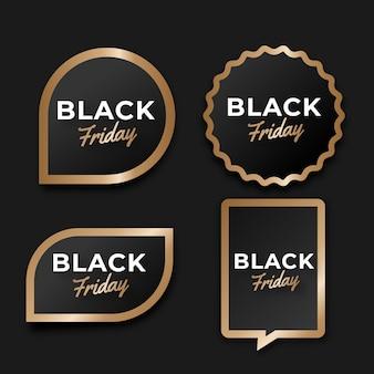 Реалистичная коллекция наклеек черной пятницы