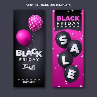 Set di banner verticali realistici del black friday