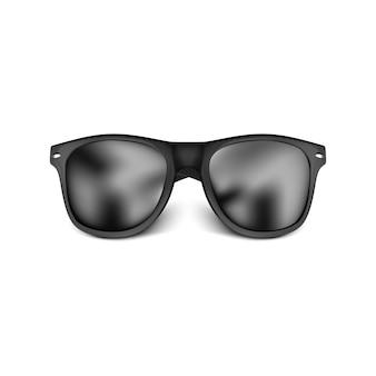 Realistic black sun glasses