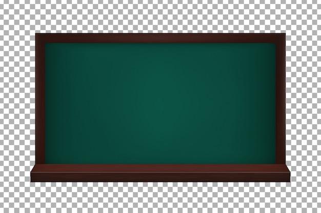 透明な背景に現実的な黒板。学校と教育に戻るの概念。