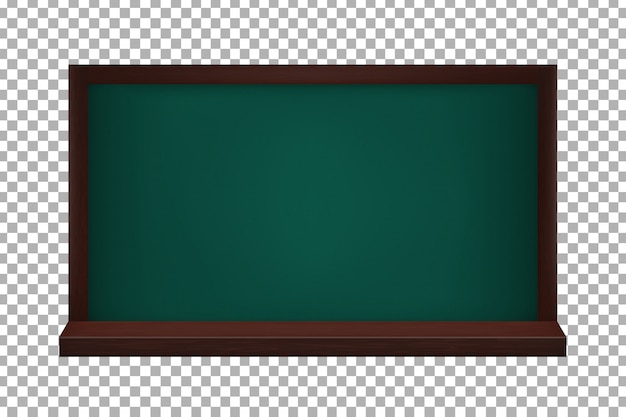 Realistic  blackboard on the transparent background. concept of back to school and education.