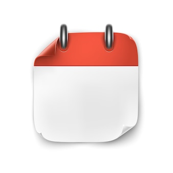 Realistic blank calendar icon isolated