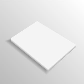 Realistic blank closed magazine mockup template