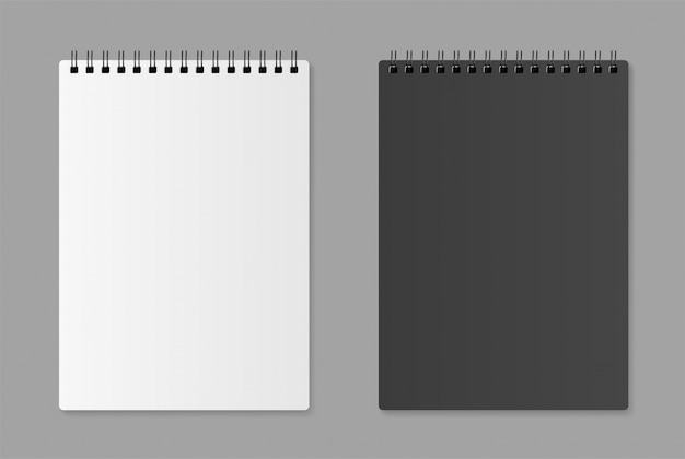 Realistic blank notebook