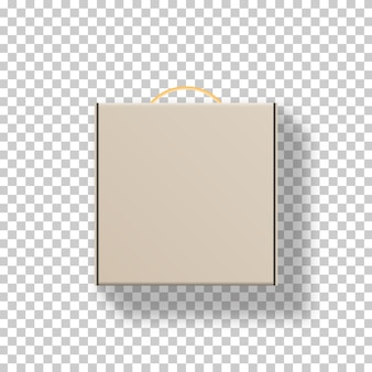 Realistic blank package cardboard box.   . template . realistic  illustration.