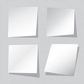 Realistic blank paper sheets set