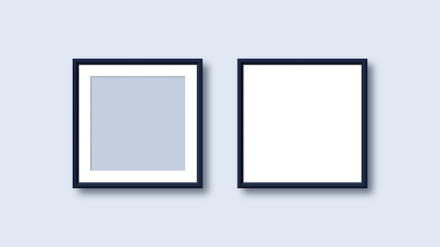 Realistic blank picture frame templates
