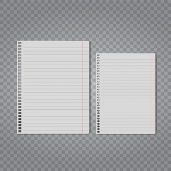 Realistic blank piece of paper mock up