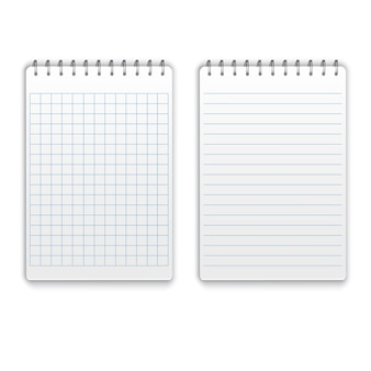Realistic blank spiral notepad