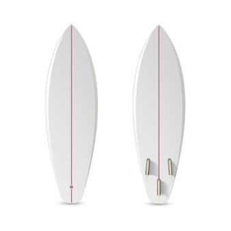 Realistic blank surfboard.