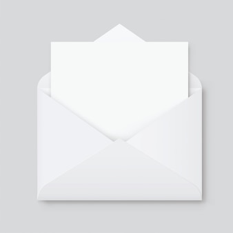 Realistic blank white letter paper c5 or c6 envelope front view. a6 c6, a5 c5, template
