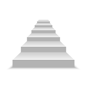 Realistic blank white stairs. vector illustration
