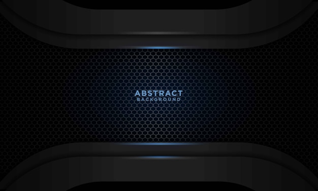 Realistic blue black background with blue light