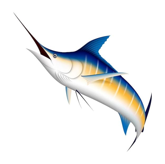 Реалистичная голубая марлинская рыба