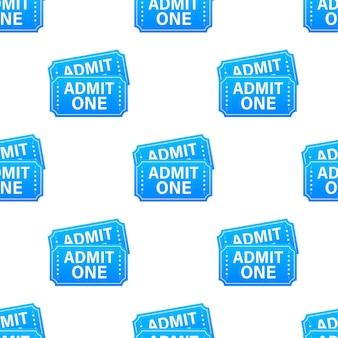 현실적인 블루 쇼 티켓 패턴입니다. 벡터 일러스트 레이 션.