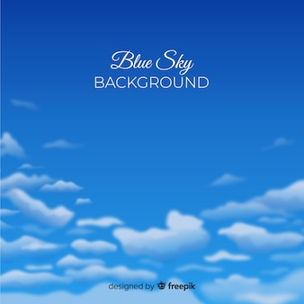 Realistic blue sky background