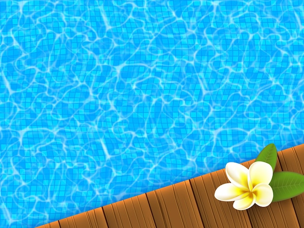 Реалистичный синий бассейн