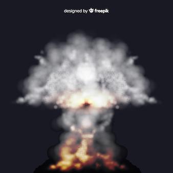 Realistic blur bomb smoke effect