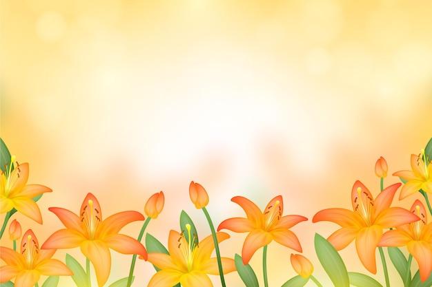 Реалистичный размытый цветочный фон