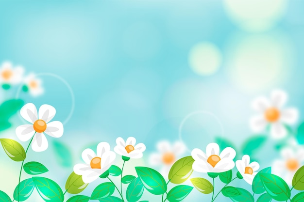 Realistic blurred spring wallpaper