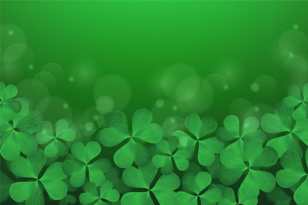 Realistic blurred st. patrick day