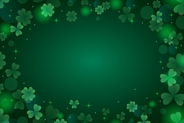 Realistic blurred st. patrick's day illustration