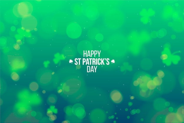 Realistic blurred st. patrick's day wallpaper