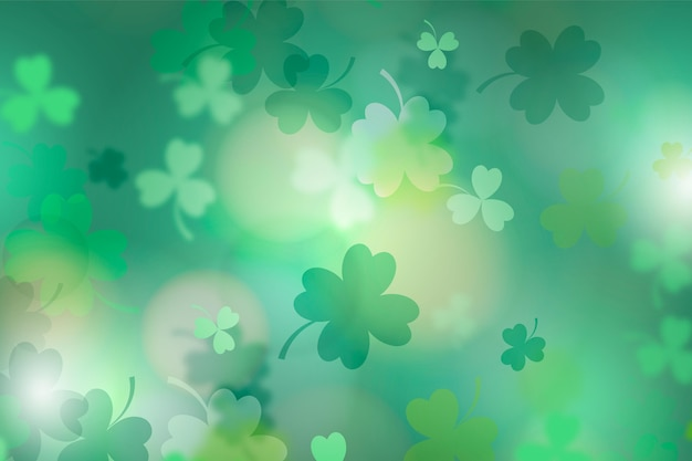 Realistic blurred st. patrick's day