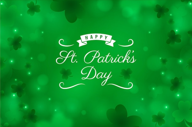 Realistic blurry st. patrick's day background