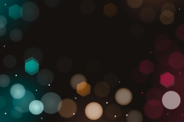 Realistic bokeh background