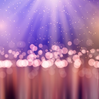 Realistic bokeh lights wallpaper
