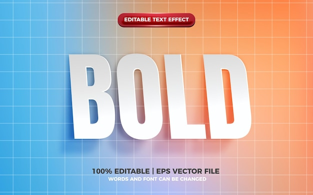 Realistic bold cutout paper editable text effect Premium Vector